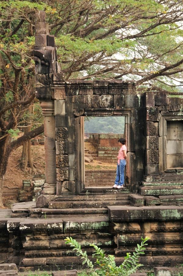 THE TEMPLE AT ANGKOR WAT, CAMBODIA