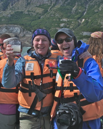 TINA AND JANE, GLACIER WATER IN PATAGONIA