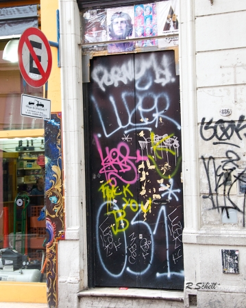 GRAFFITI'D DOOR
