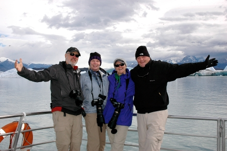 BOB, JANE, TINA AND BAILEY EXPLORING PATAGONIA