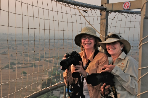 TINA AND JANE SHOOTING SUNRISE, ANGKOR WAT