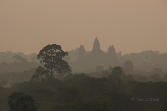 DAYBREAK, THE TEMPLE AT ANGKOR WAT