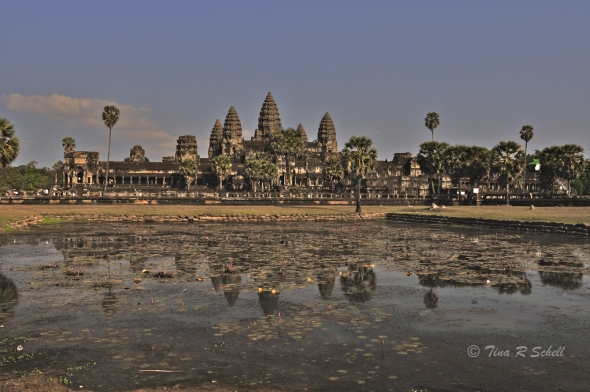 EVENING LIGHT-THE TEMPLE AT ANGKOR WAT