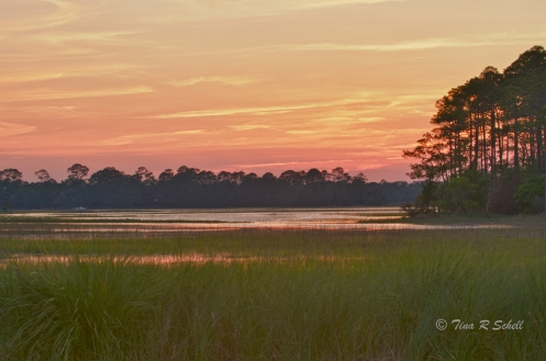 SUNSET ON THE MARSH, KIAWAH ISLAND, SC