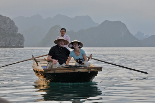TINA AND BAILEY, HALONG BAY, VIETNAM