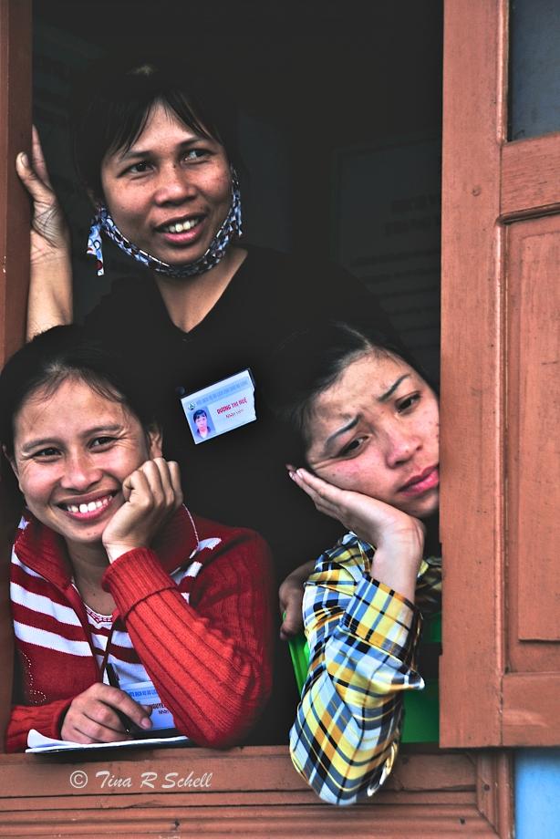 THREE IN A WINDOW