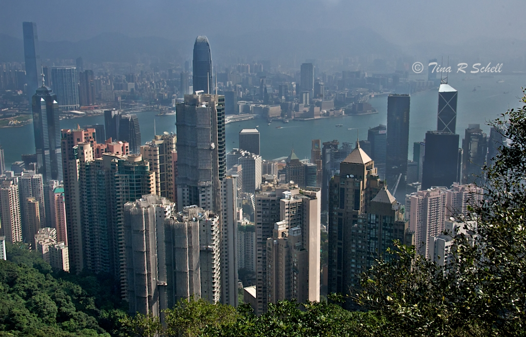 HAZY HONG KONG HARBOR