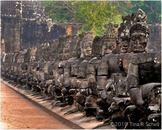 TEMPLE GUARDIANS, ANGKOR WAT