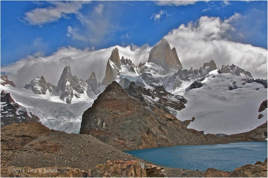 LAGO DE LOS TRES, PATAGONIA, ARGENTINA