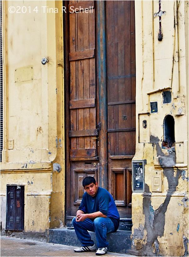 BOY IN A DOORWAY, BUENOS AIRES