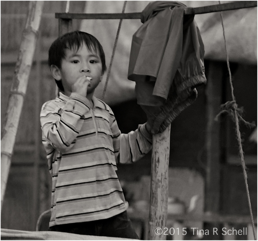 BOY ON A BOAT