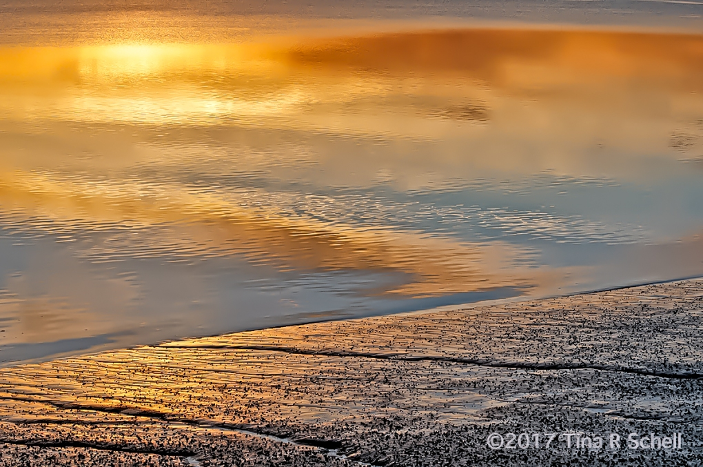 SAND, SEA AND SUNSET'S REFLECTION