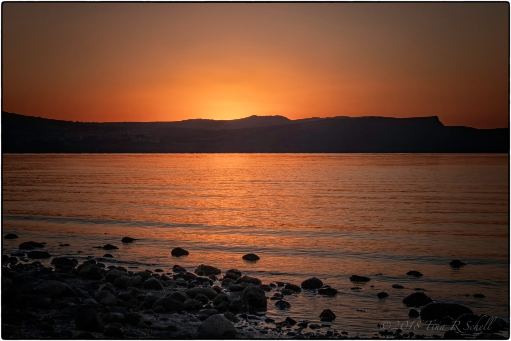 GOLDEN SUNSET, GALILEE
