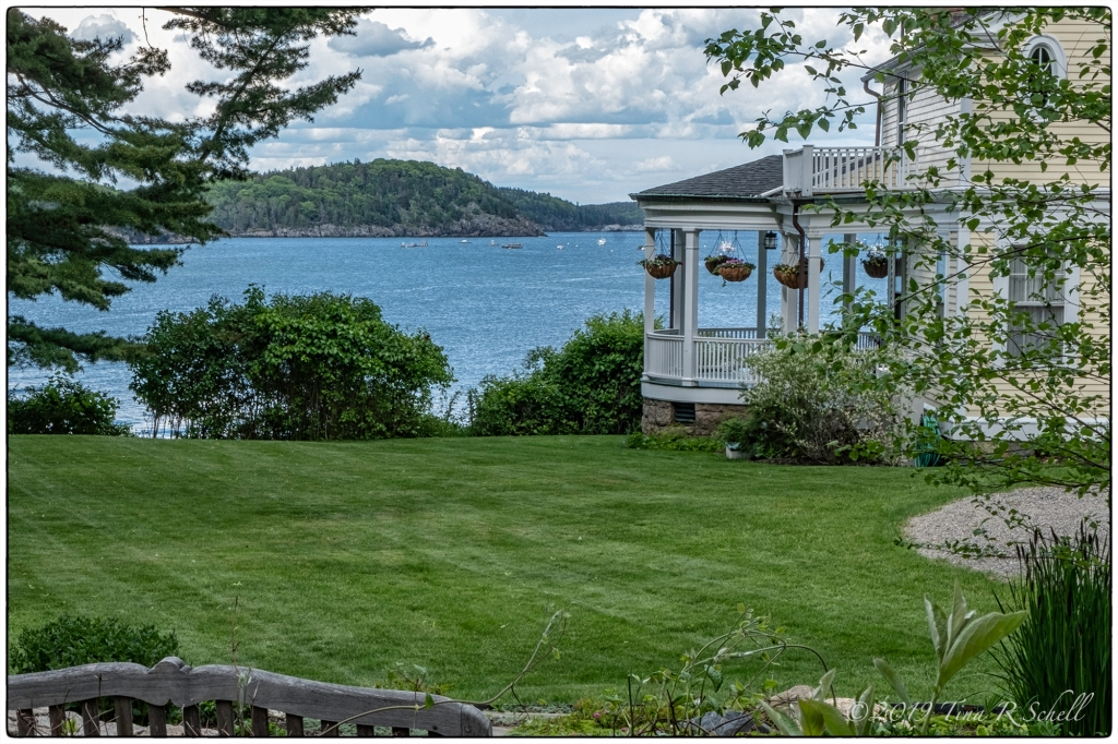 porch over Frenchman's Bay, Bar Harbor