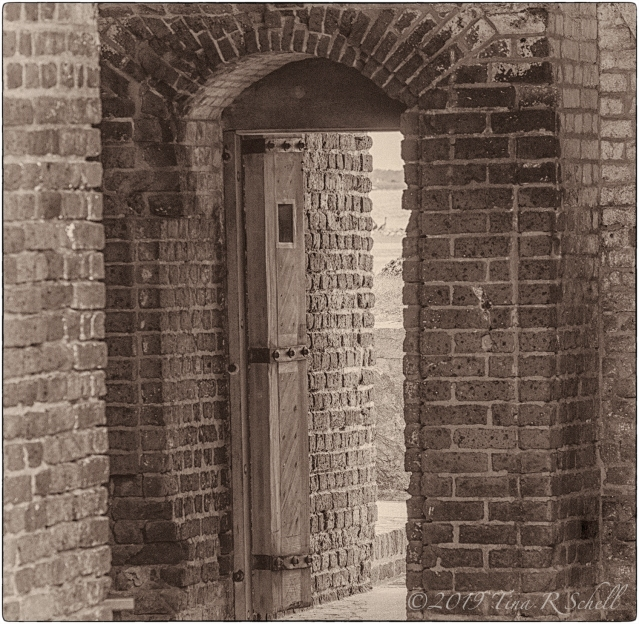 Doorway and bricks, Fort Sumter
