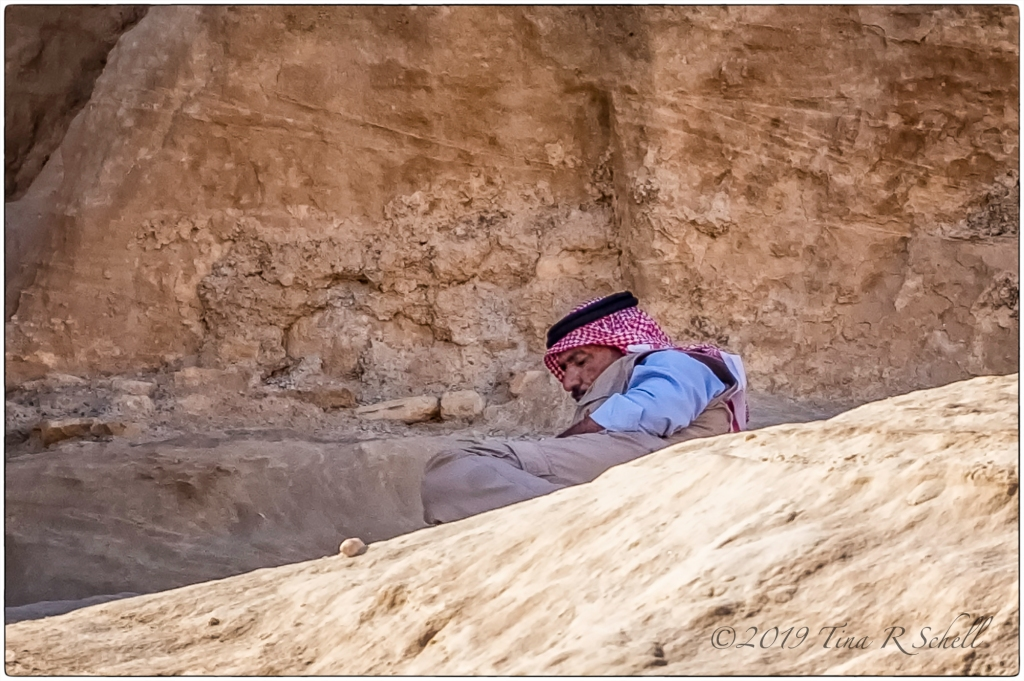 arab at rest in Petra