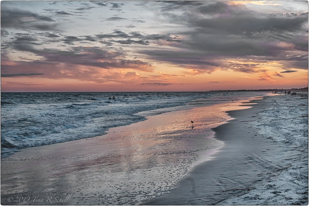Kiawah, beach, sunset