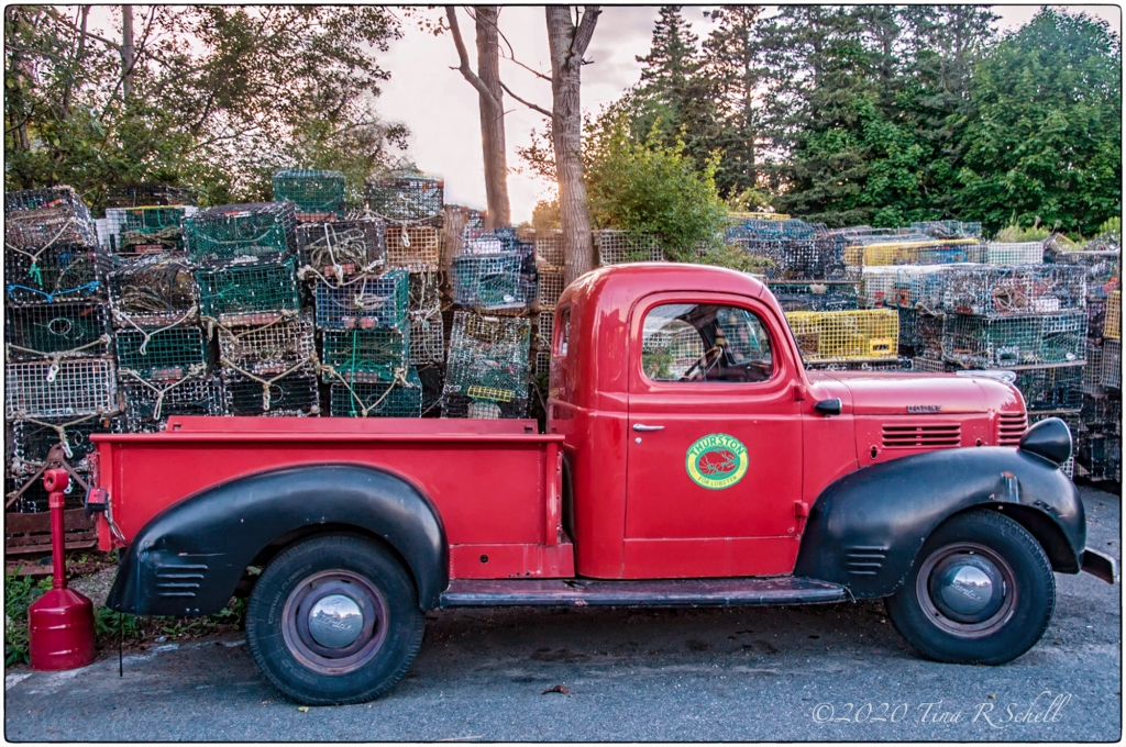 RED TRUCK, lobster cages