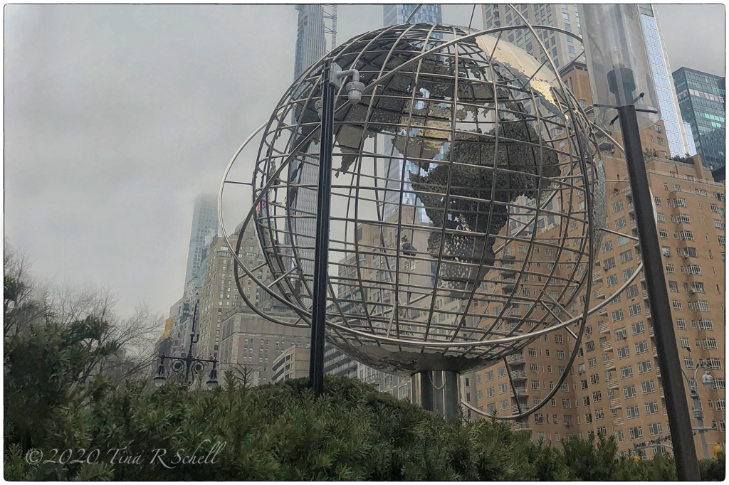 globe, sculpture, NYC