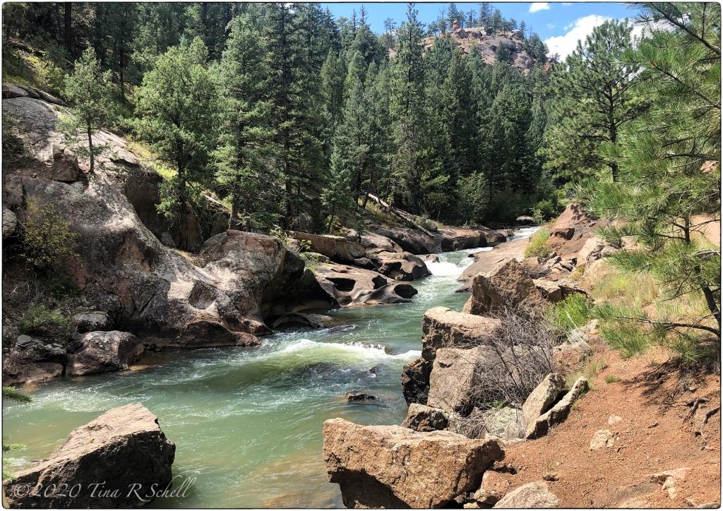 mountain stream, rocks