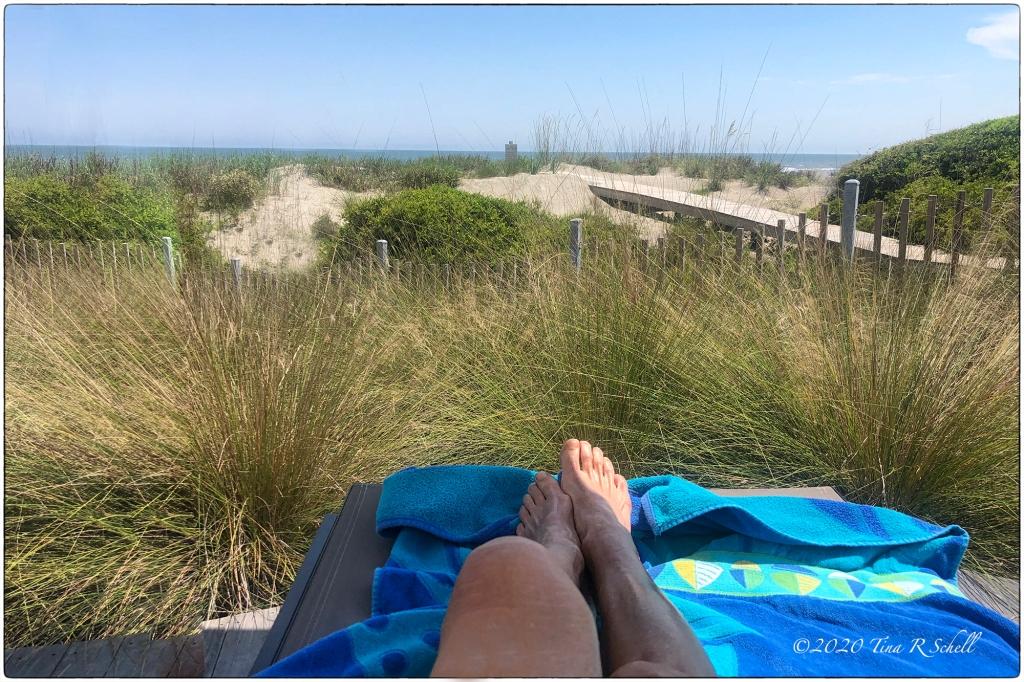 Beach, feet, dunes