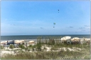 beach, parachutes, Kiawah Island