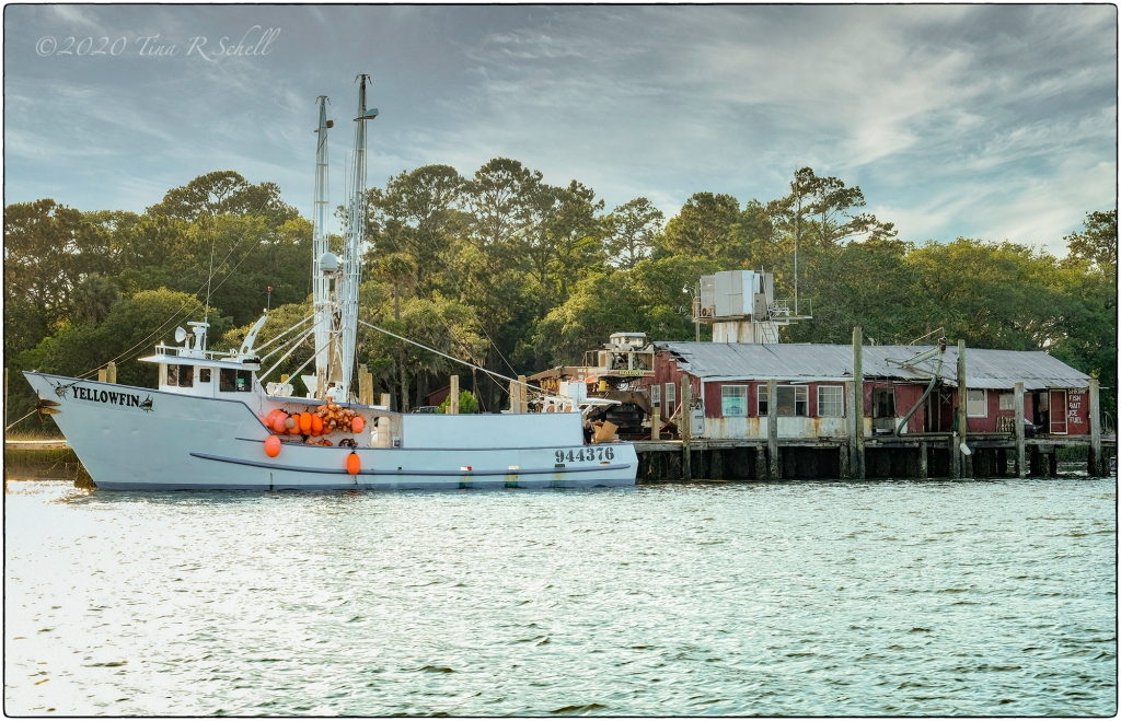 shrimp boat at rest