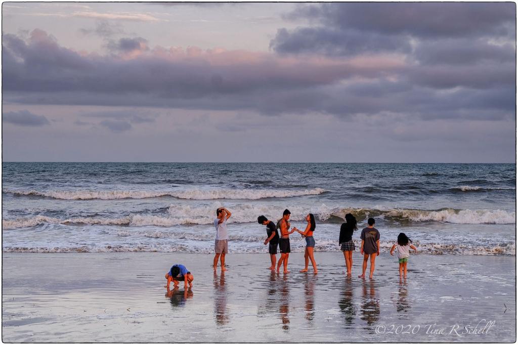beach, Kiawah, beachgoers, surf