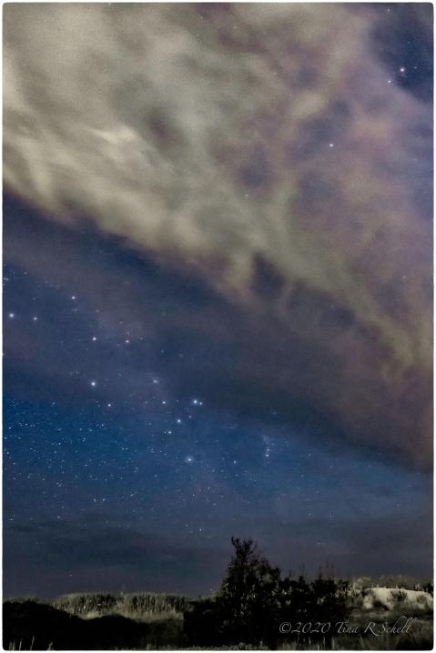 night, stars, kiawah, cloud