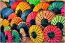 umbrellas, colorful, LAOS