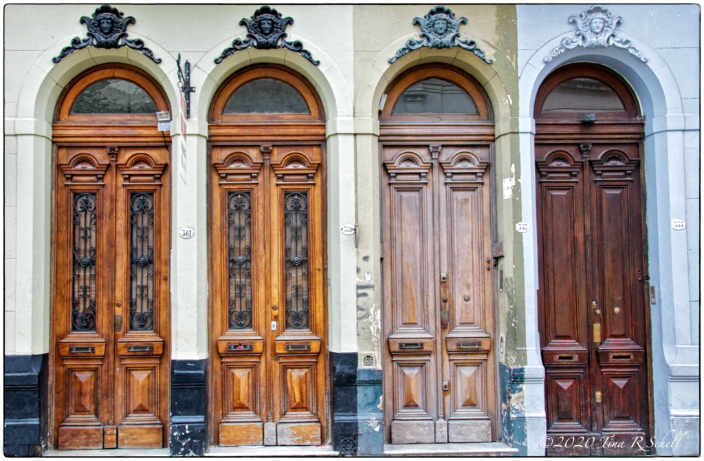 doors, ornate, Buenos Aires, four