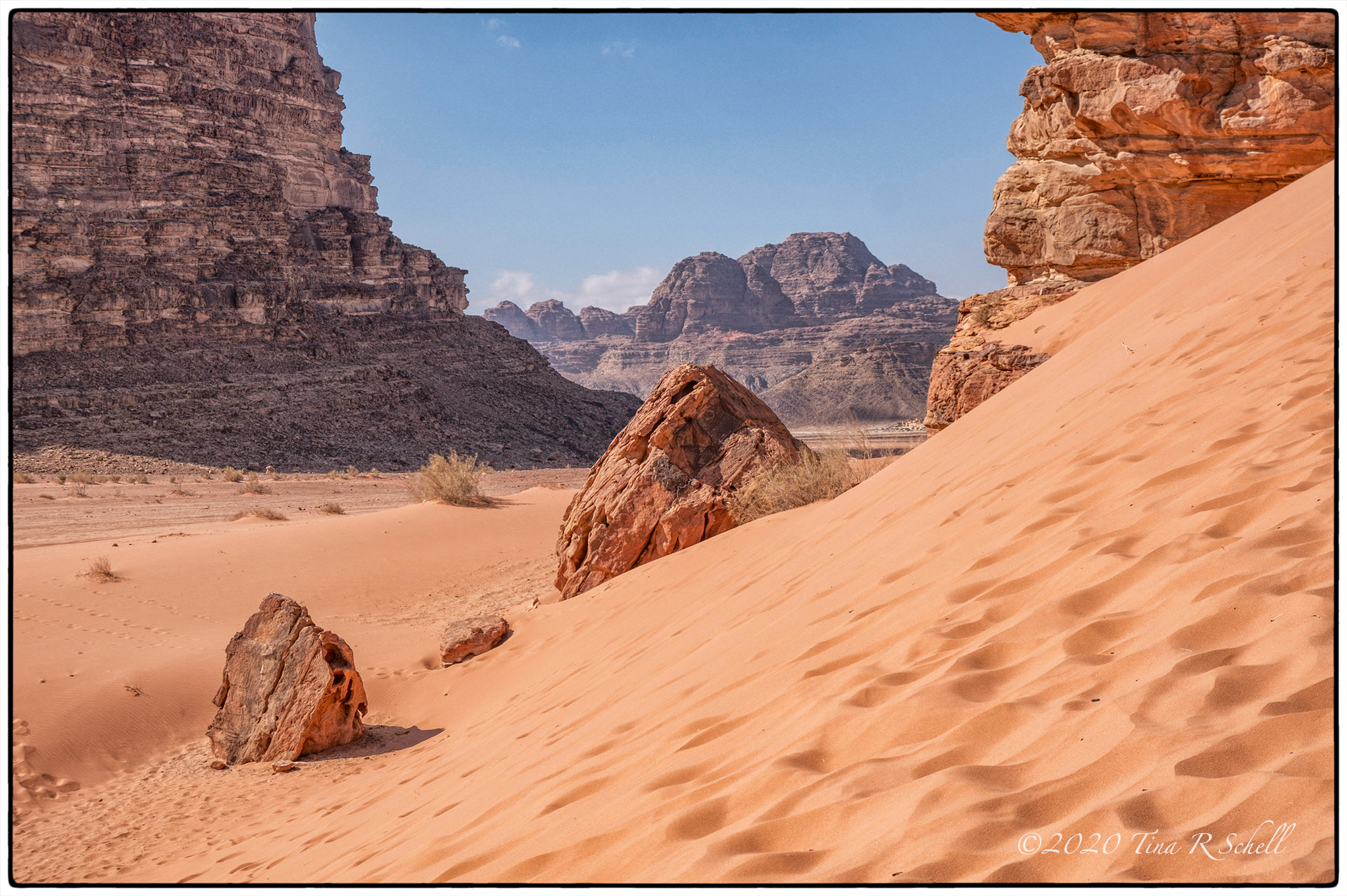 desert, landscape, sand, rock