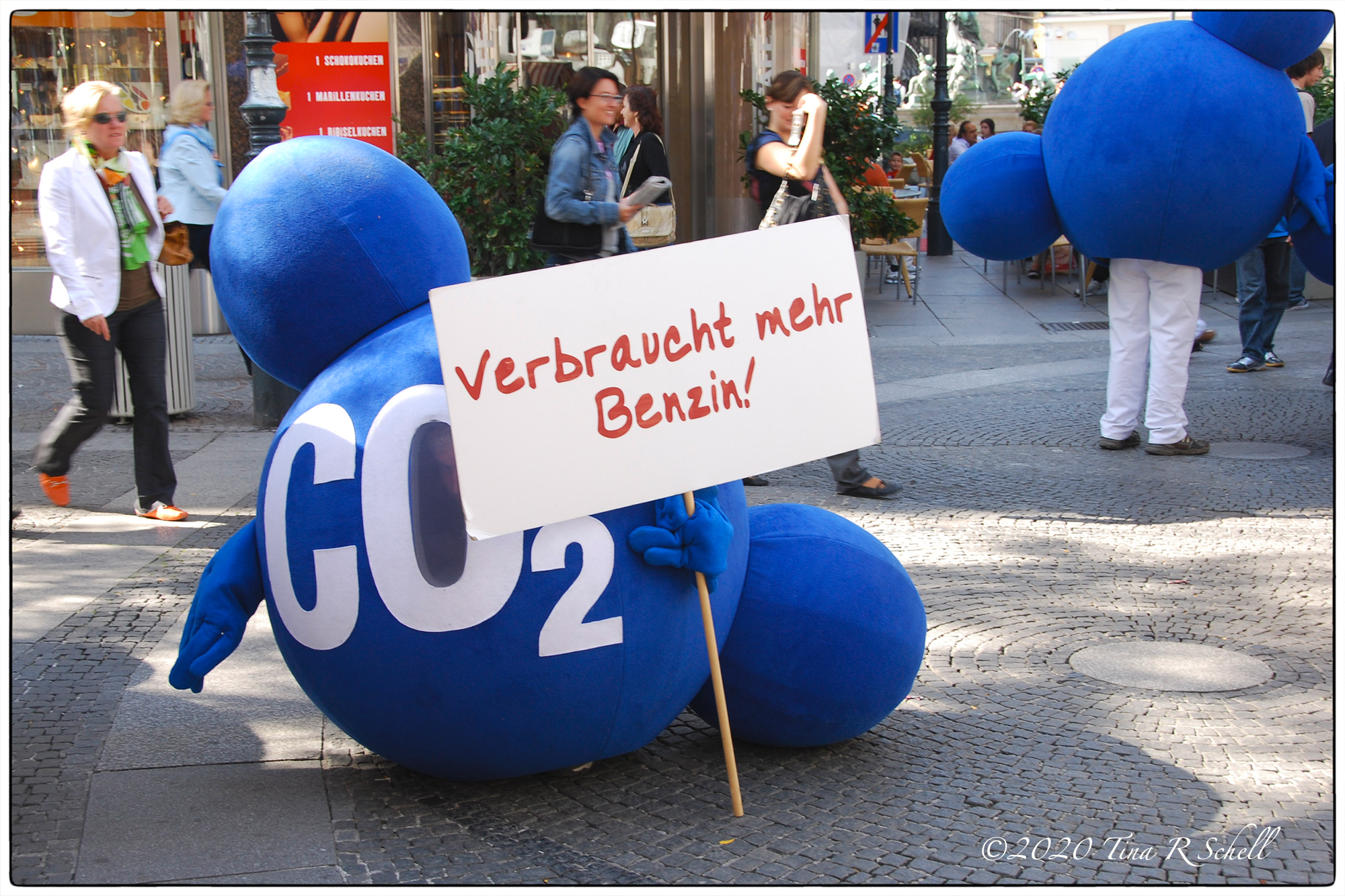 blue, CO2, protest