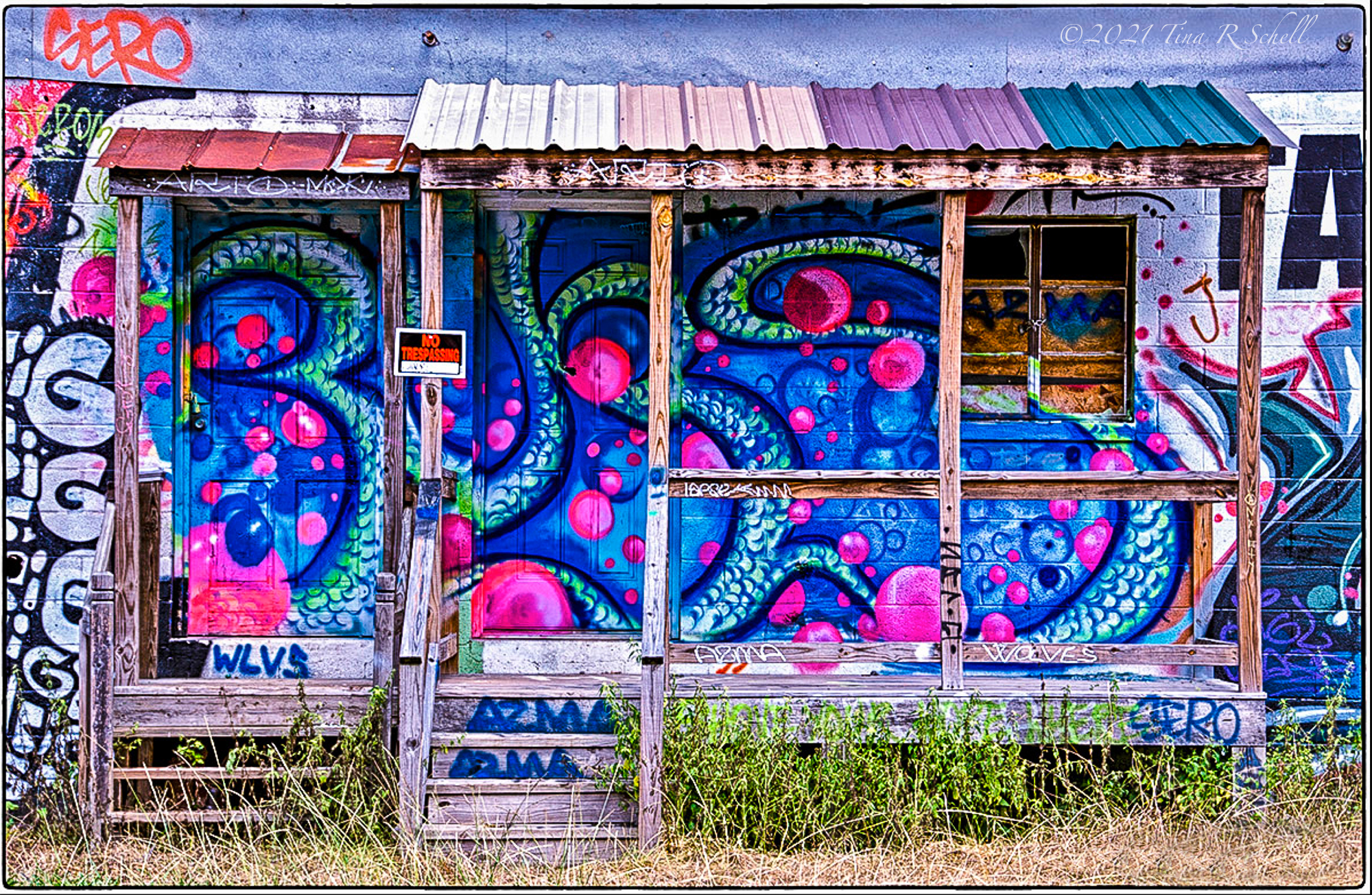 COLORFUL, SHED, WALL ART