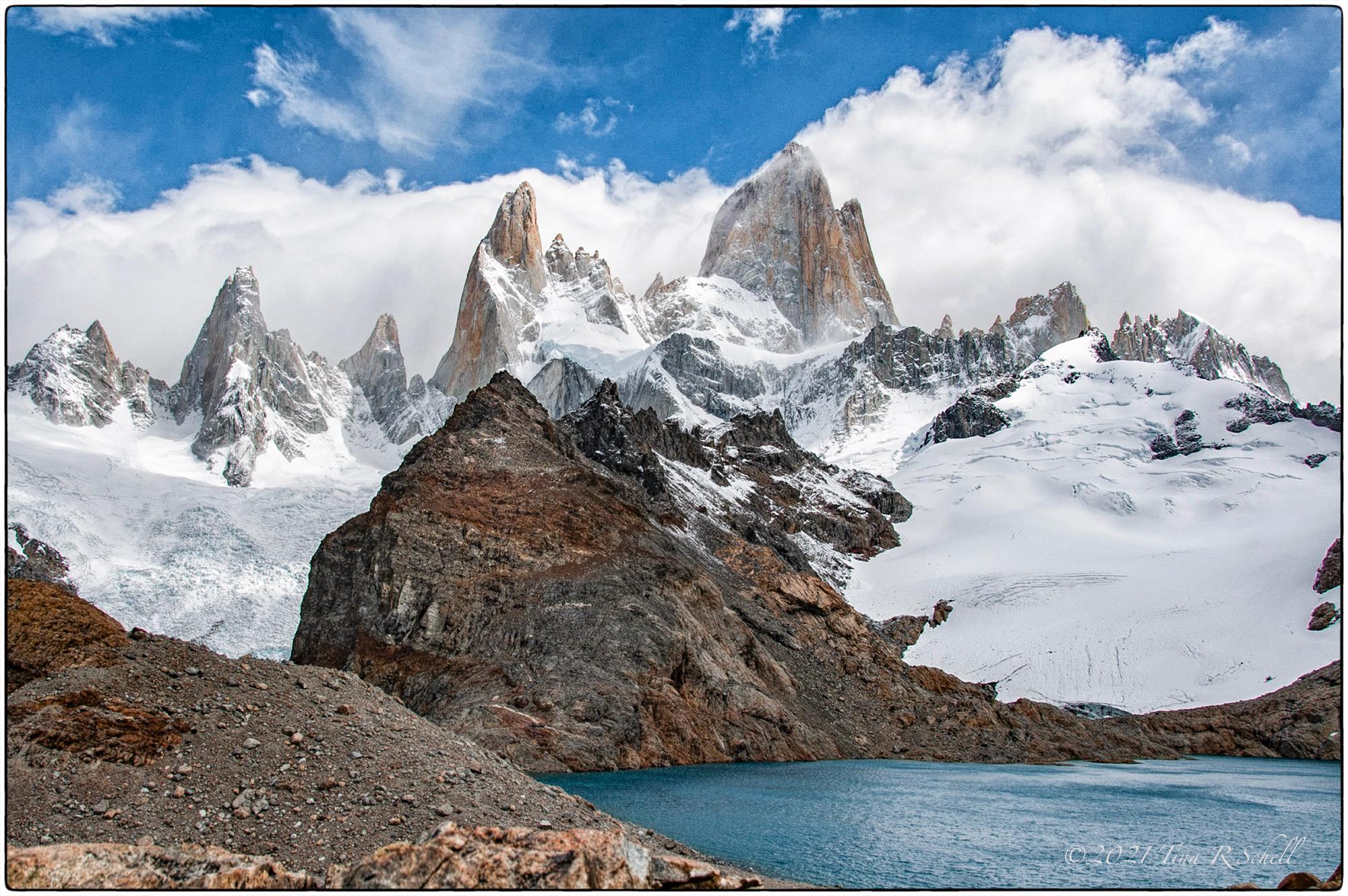 Laguna de los Tres, Patagonia, snow, El Chalten