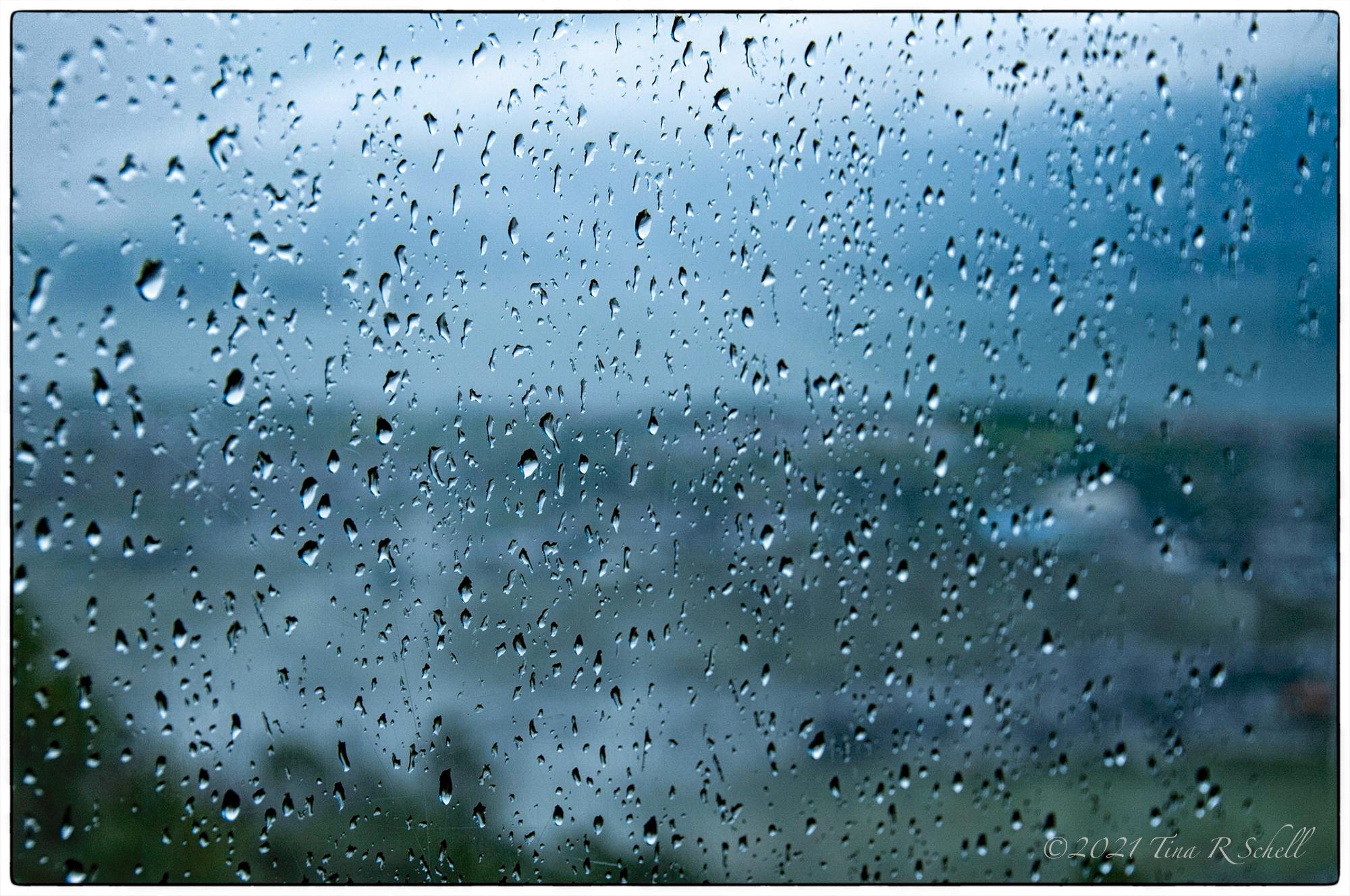 WINDOW, RAINDROPS