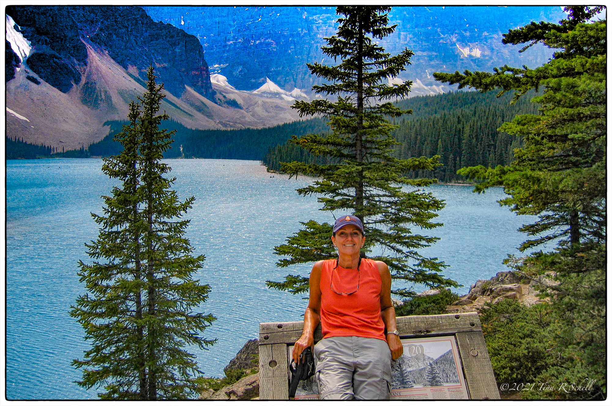 mountains, lake, Canada, 10 Peaks