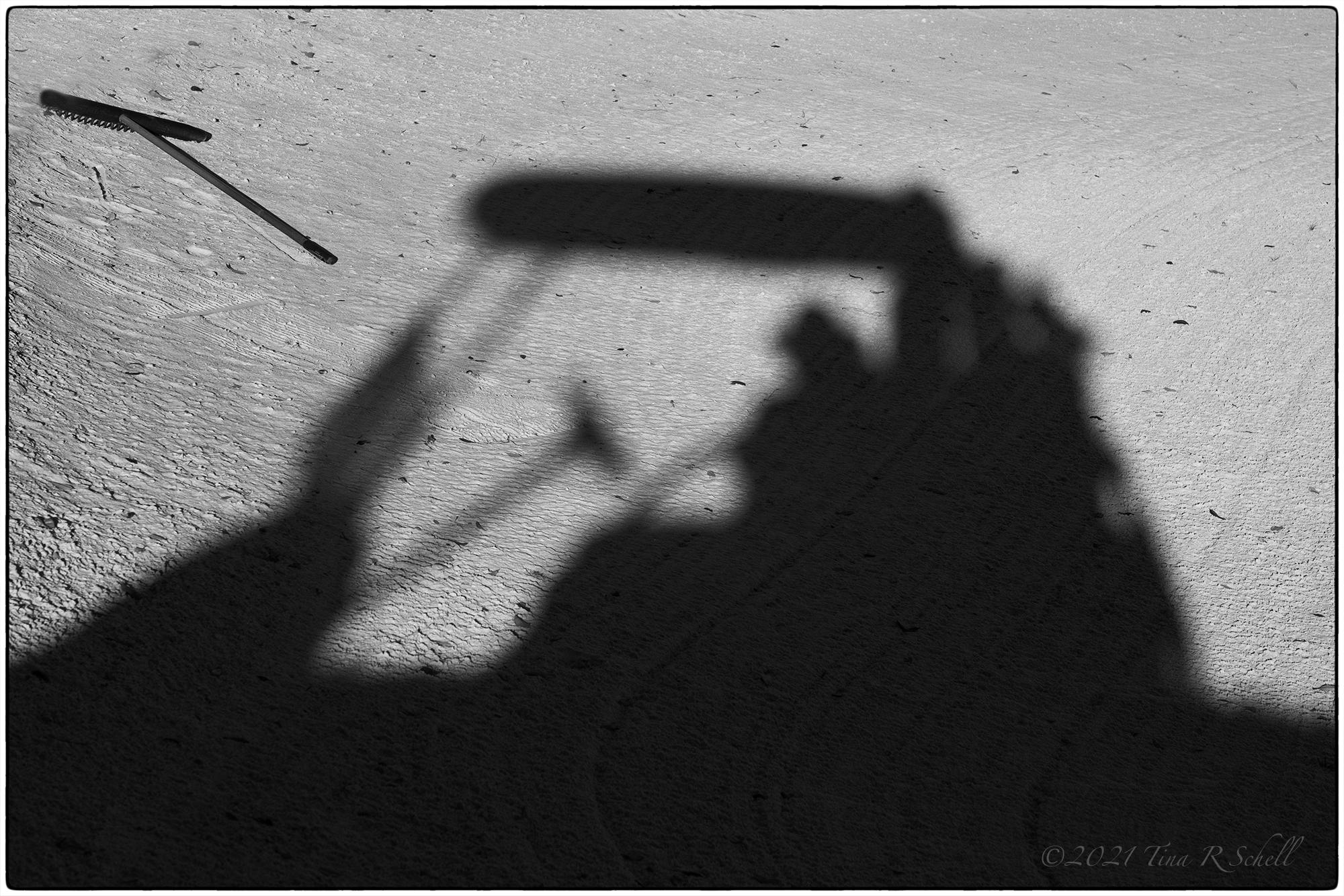golf cart, shadow