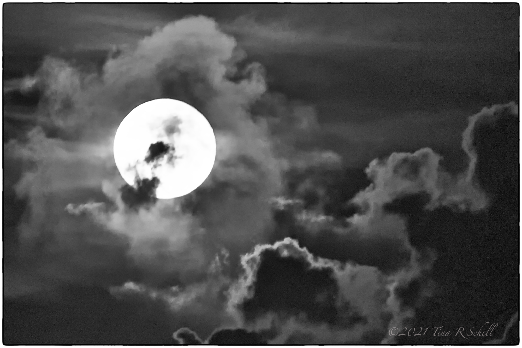 moon, shadows