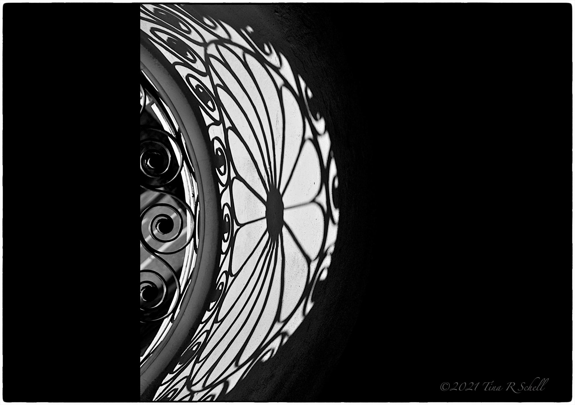 shadow, ironwork, window