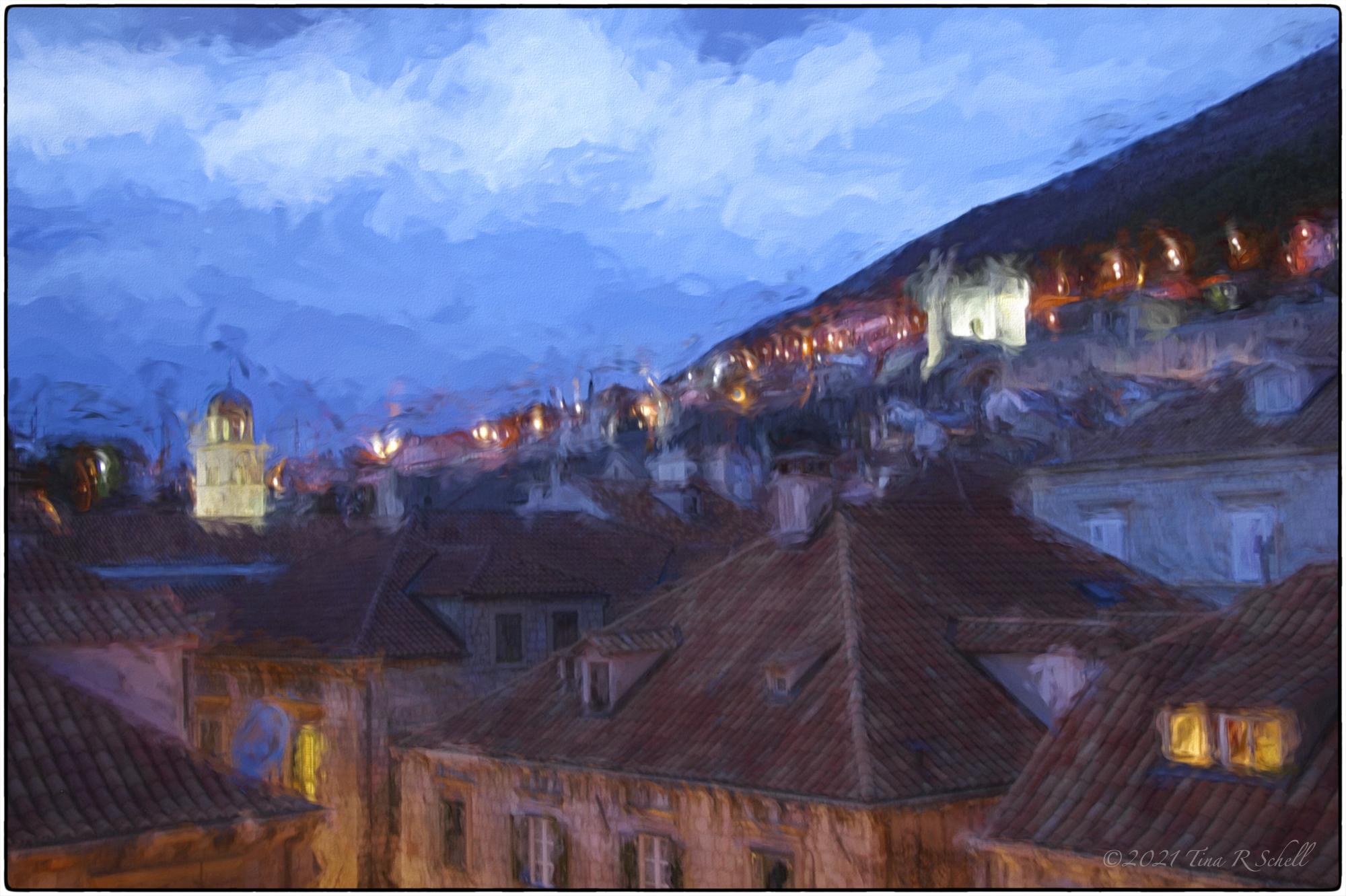Dubrovnik, evening, artistic