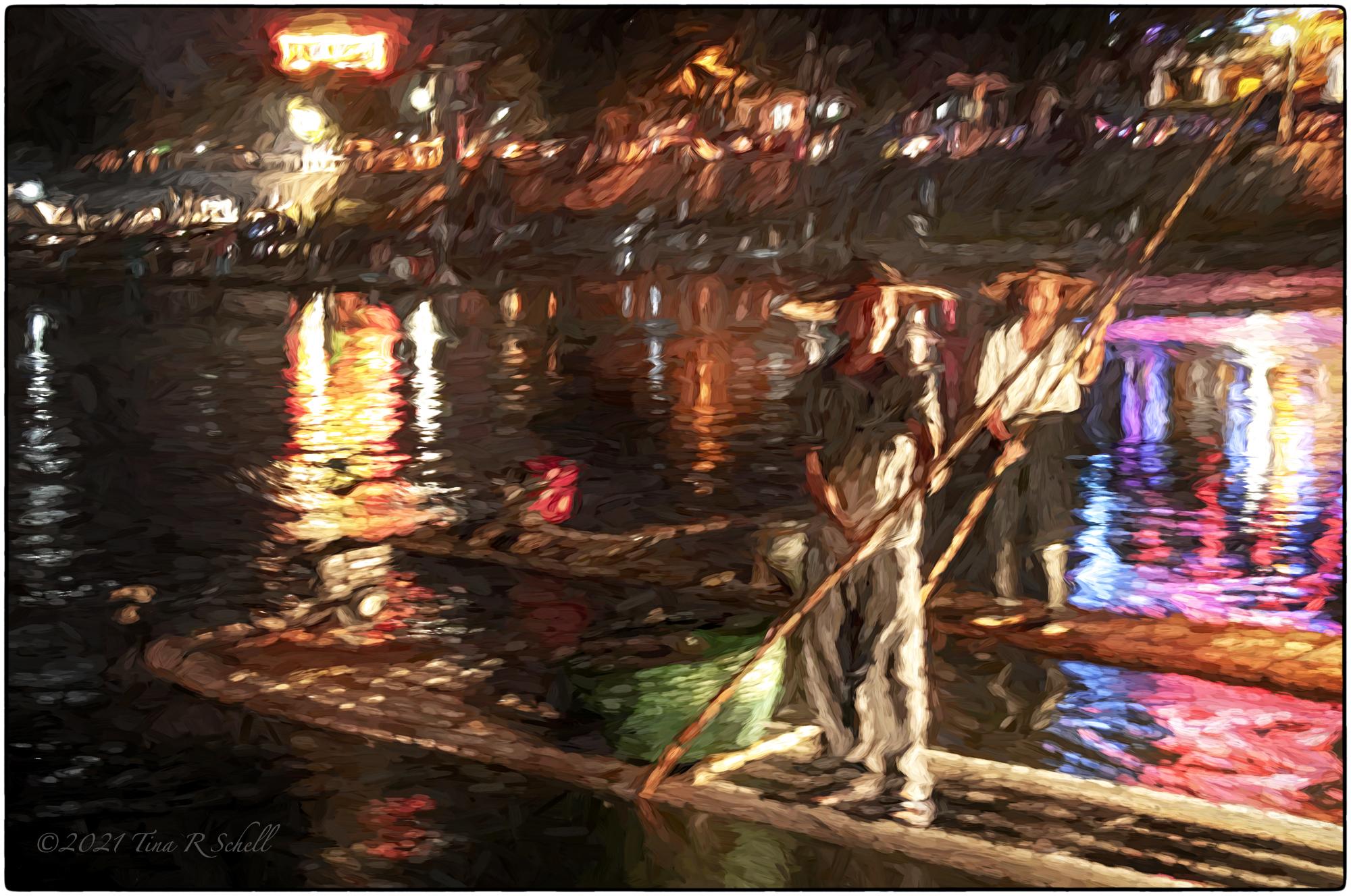 pole fishing, China, floating