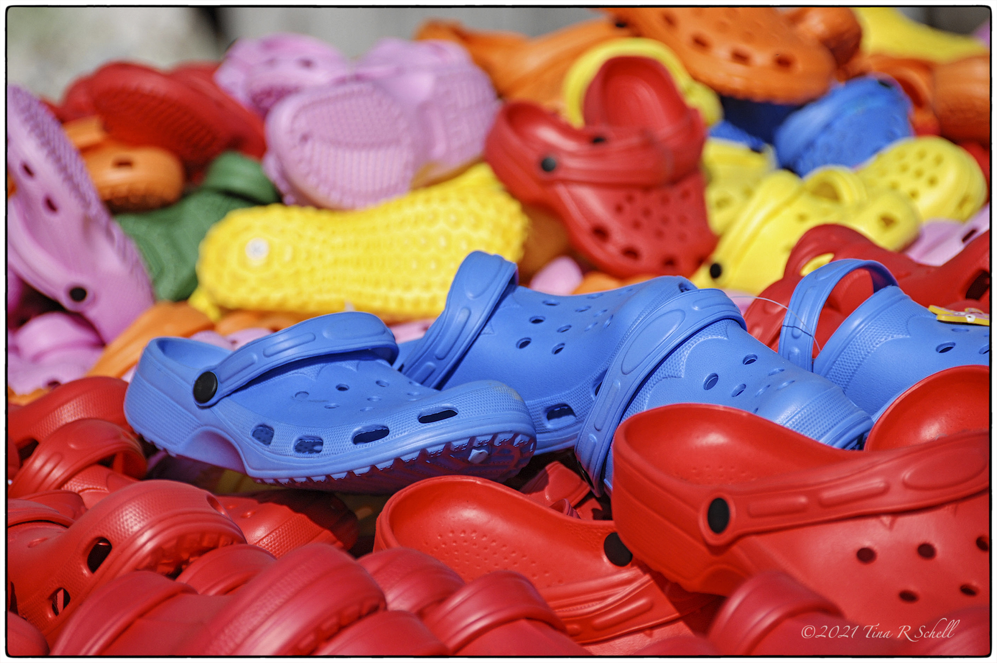 shoes, red, blue, yellow, primary colors